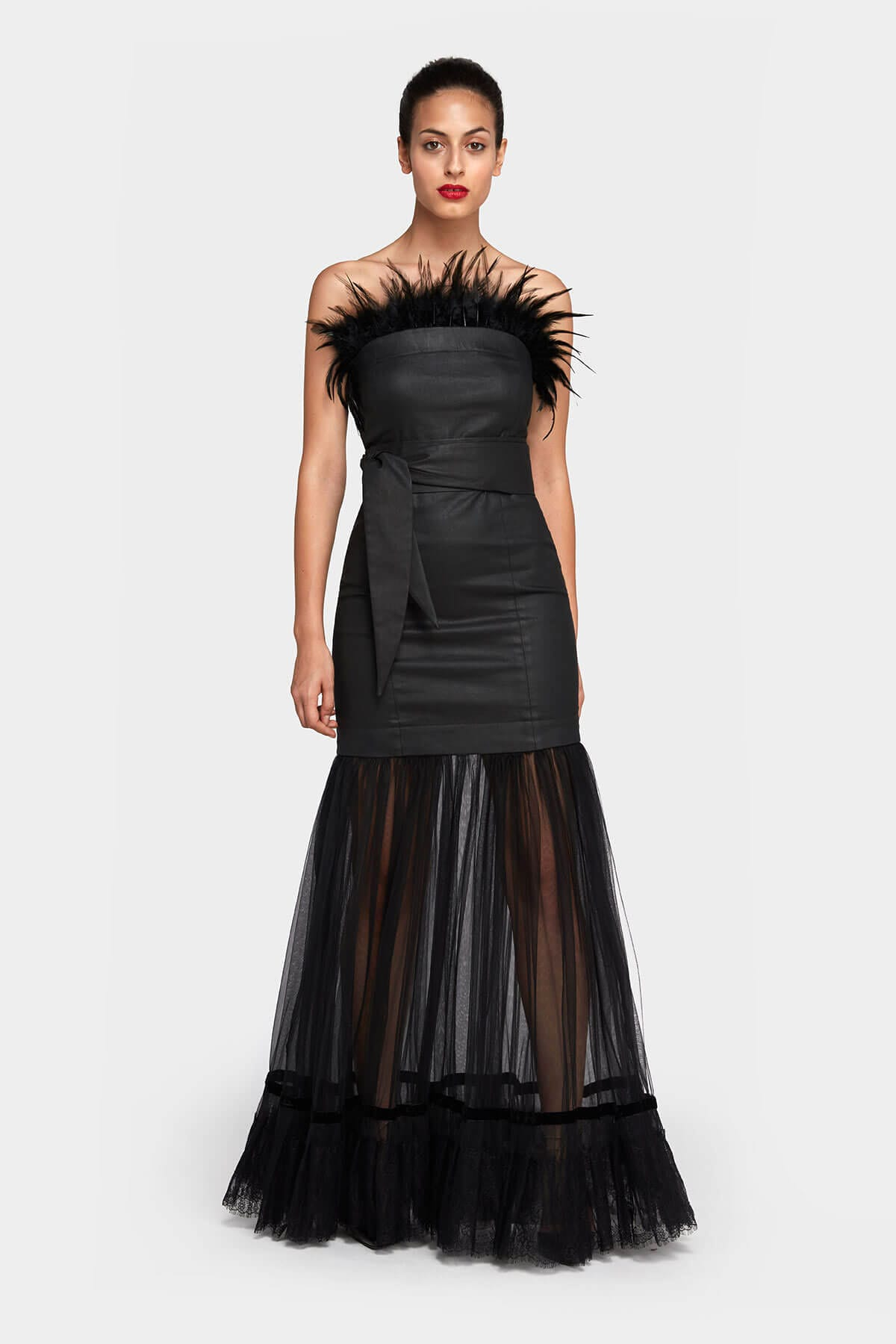 Modular Dress Labbys – Cocktail skirt, Top Feathers & Belt by Laboratory