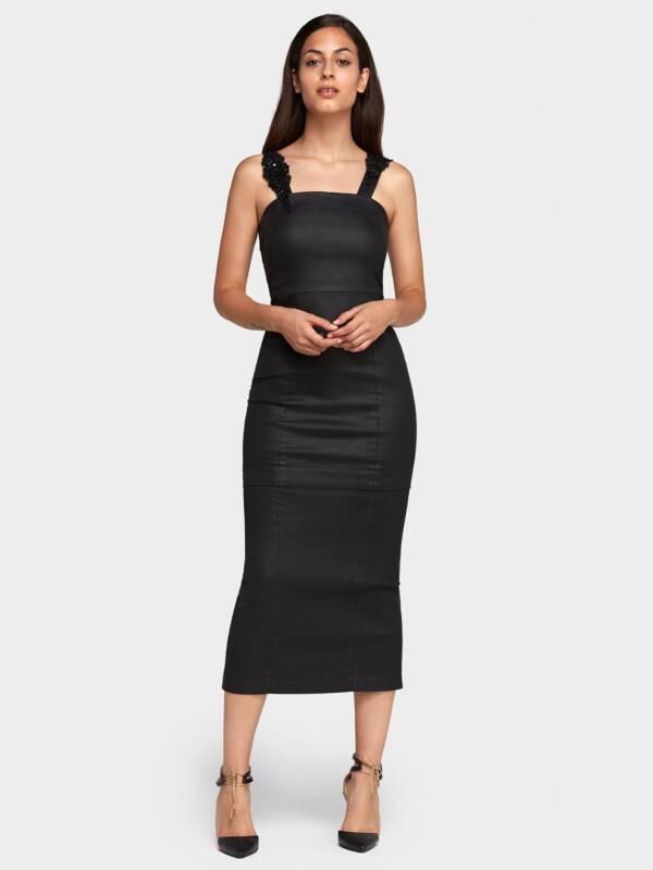 Falda larga recta